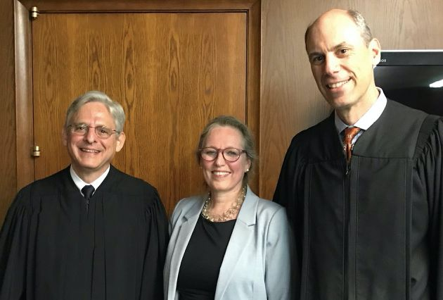 With Judge Garland (L) and Judge Boasberg (R) after the ceremony.