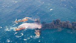 Το φλεγόμενο ιρανικό δεξαμενόπλοιο εισήλθε ακυβέρνητο στην ιαπωνική