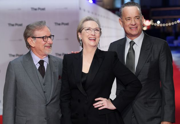 The trio at the film's premiere, the night before the press