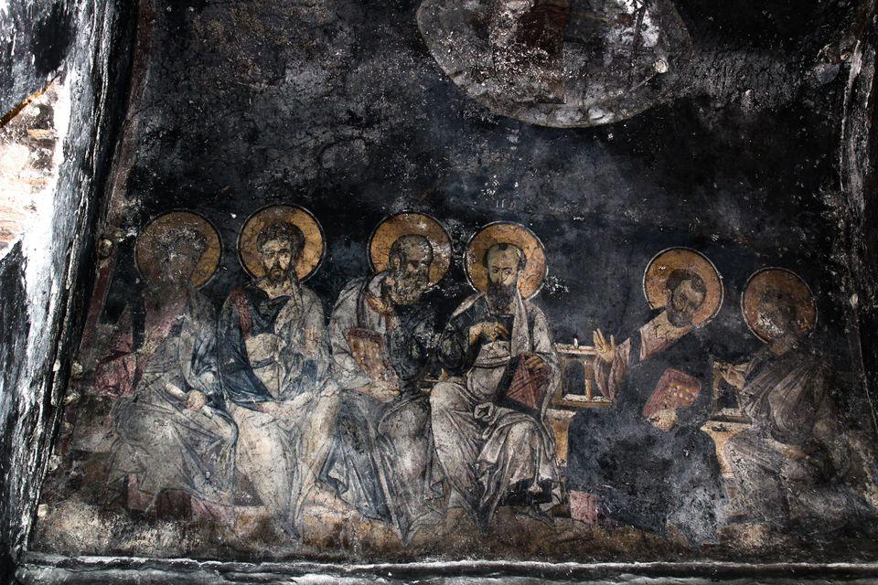 Η «Πεντηκοστή», τοιχογραφία...