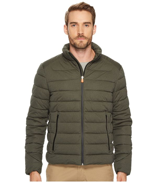 """<a href=""""https://www.zappos.com/p/save-the-duck-short-heather-solid-stretch-coat-military-green/product/8968458/color/6899"""" t"""