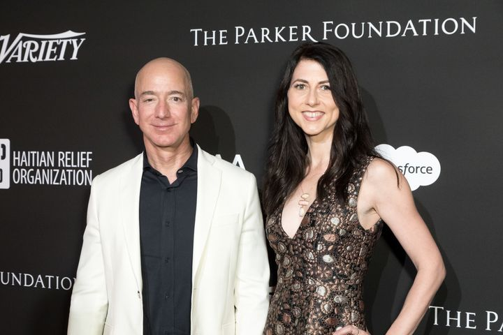Jeff and MacKenzie Bezos.