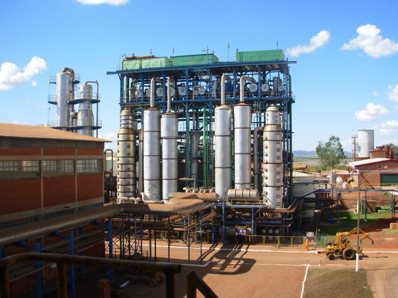 The Jalles Machado Refinery in the central Brazilian state of Goiás produces sugar cane, ethanol and electricity.