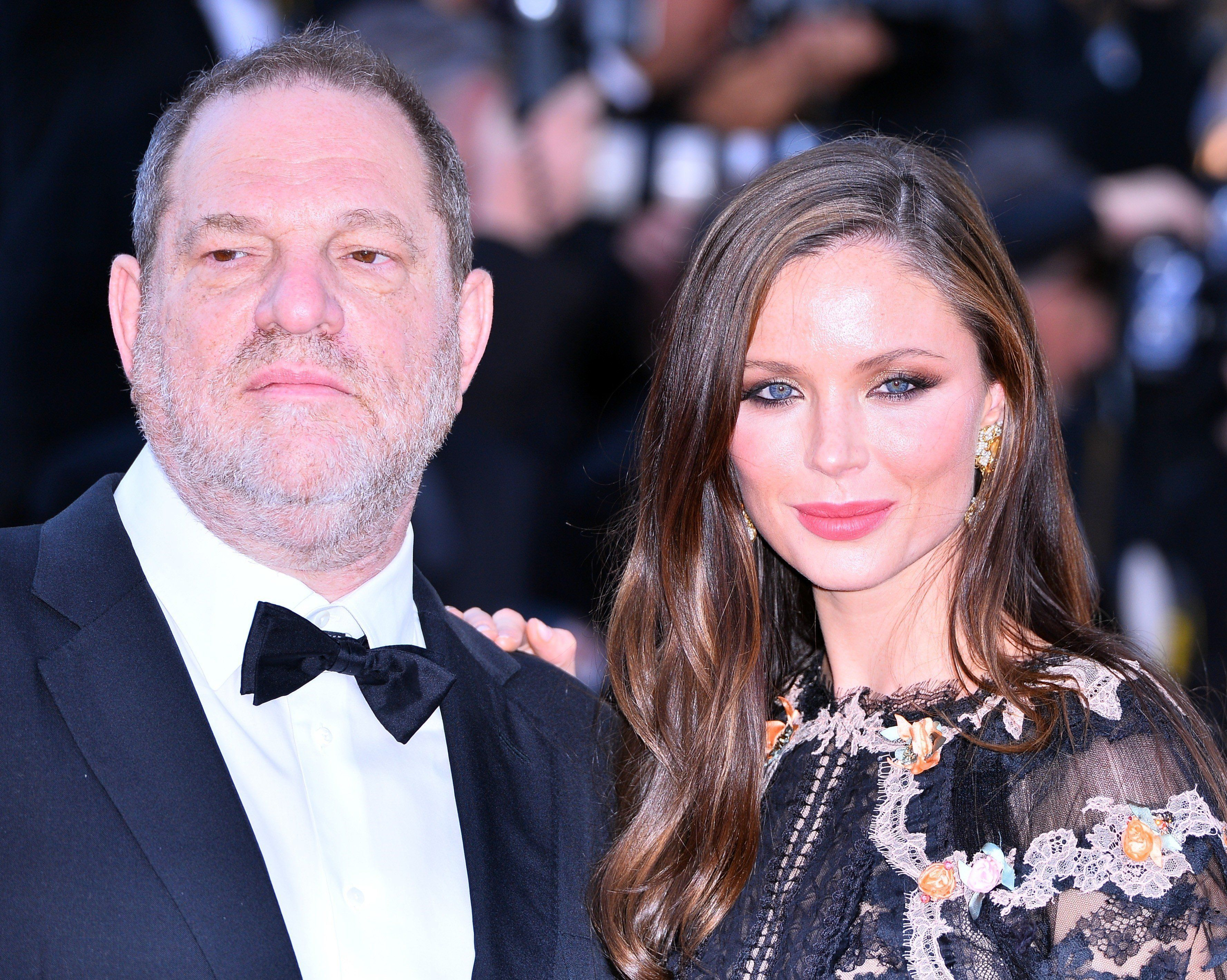 Harvey Weinstein and Georgina Chapman attend the Cannes Film Festival in France in May 2015.