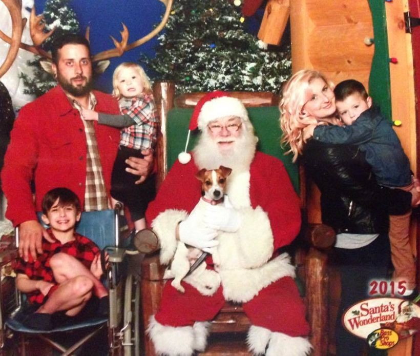 sebastian's family with santa clause