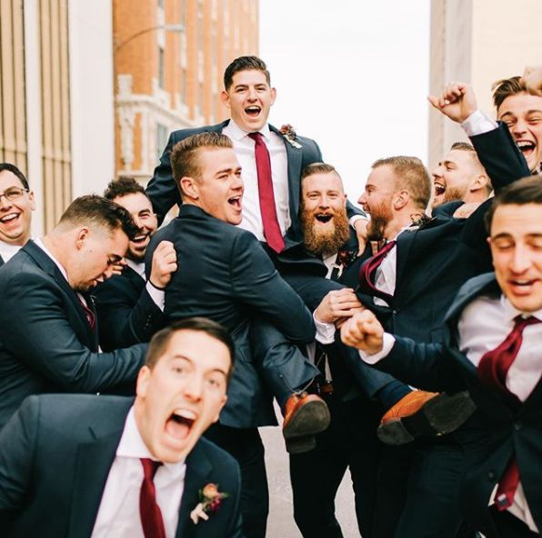 """""""When the groomsmen bring their A game."""" --<i>Sarah Libby Photography</i>"""