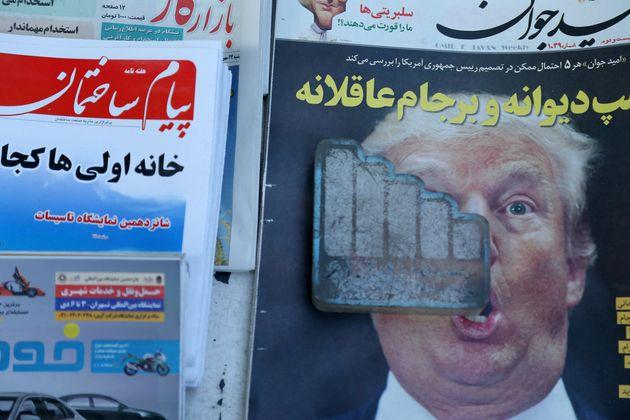 Donald Trump auf dem Cover einer Zeitung in Teheran im Oktober 2017.