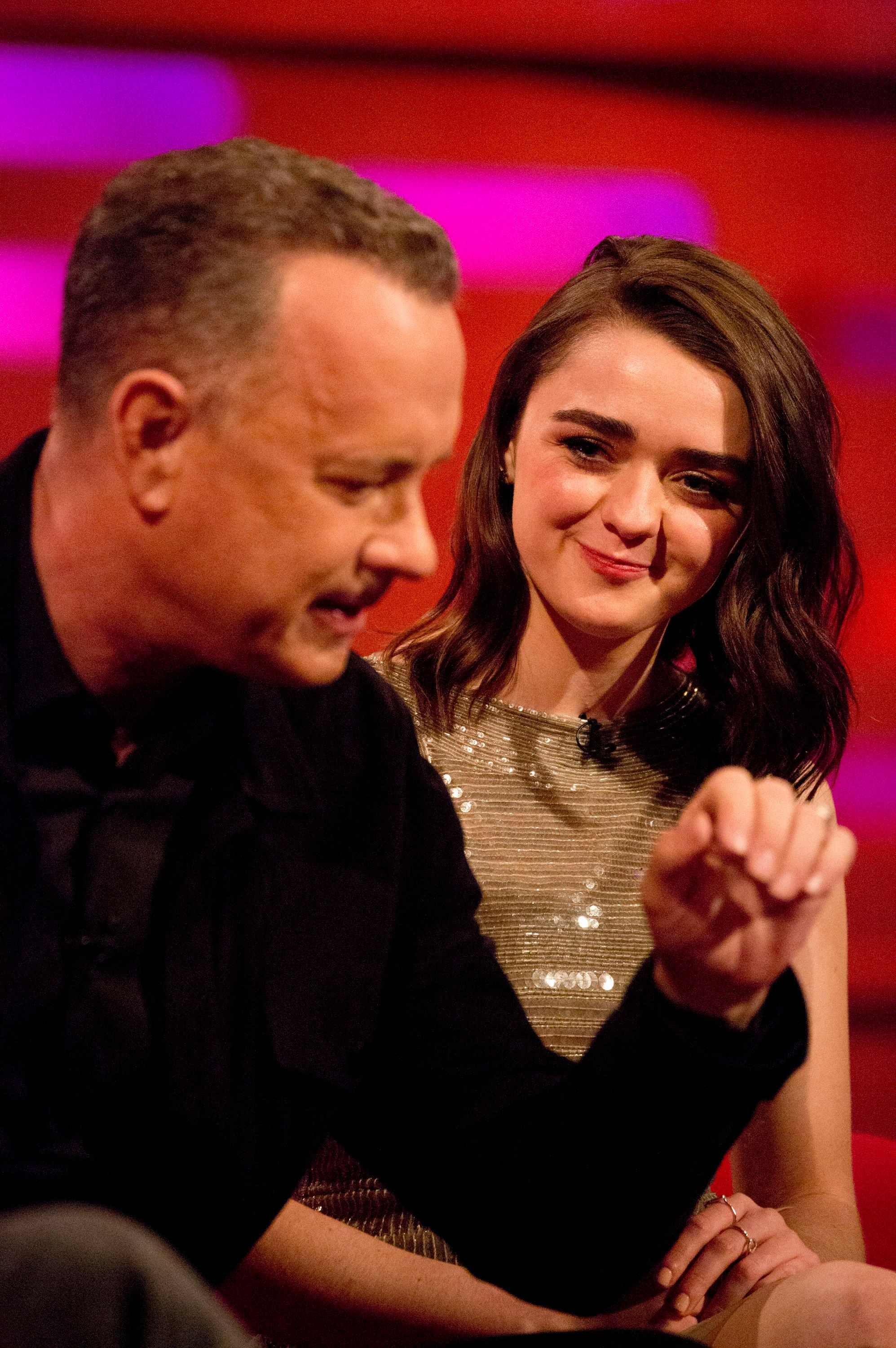 Watch As Maisie Williams Adds Tom Hanks To Arya Stark's Kill