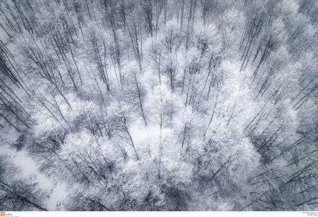 Στο ένα μέτρο το χιόνι στα ορεινά των Τρικάλων. Ακραία καιρικά φαινόμενα και στα παράλια της