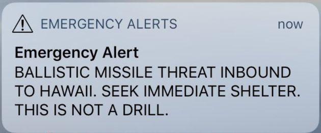 Hawaii Residents Accidentally Sent Ballistic Missile