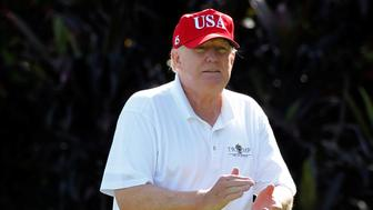Donald Trump at his West Palm Beach golf course in December