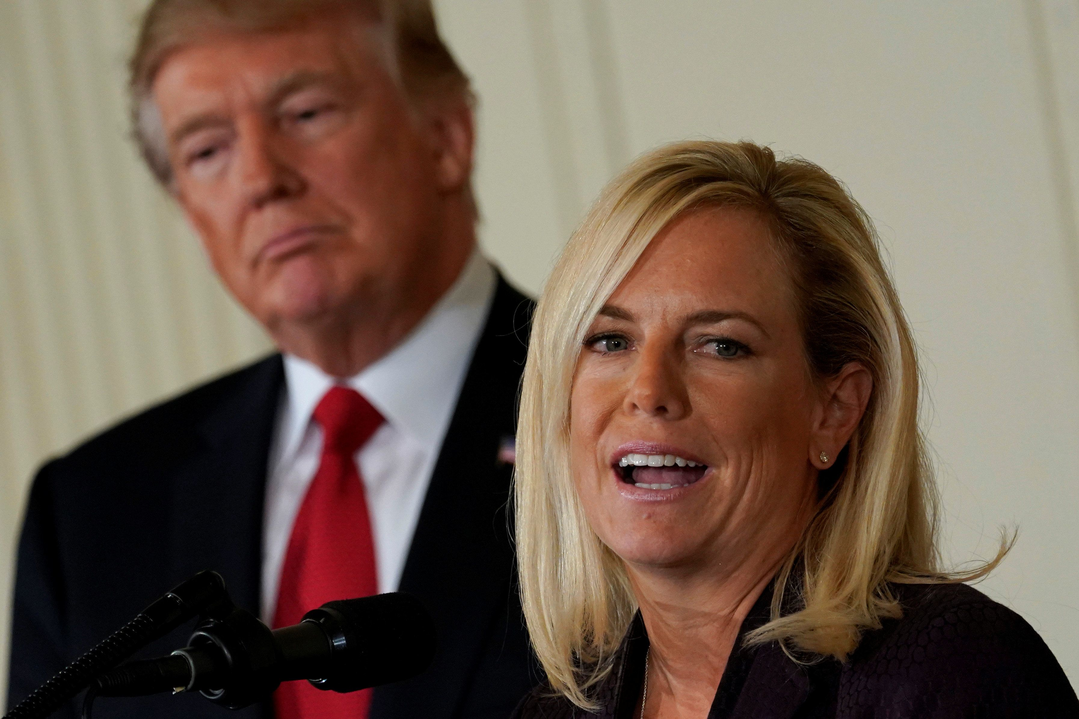 "Homeland Security Secretary Kirstjen Nielsen said she takes ""a little offense to allegations that the president is racis"