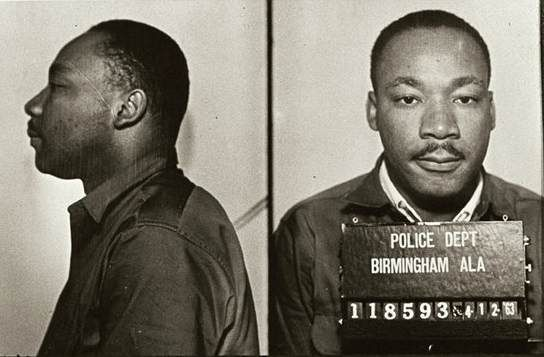 Martin Luther King, Jr.'s mugshot after his 1963 arrest in Birmingham