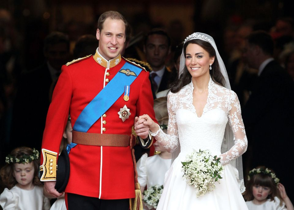 One of Jackson's photos of the Duke and Duchess of Cambridge emerging from Westminster Abbey after their