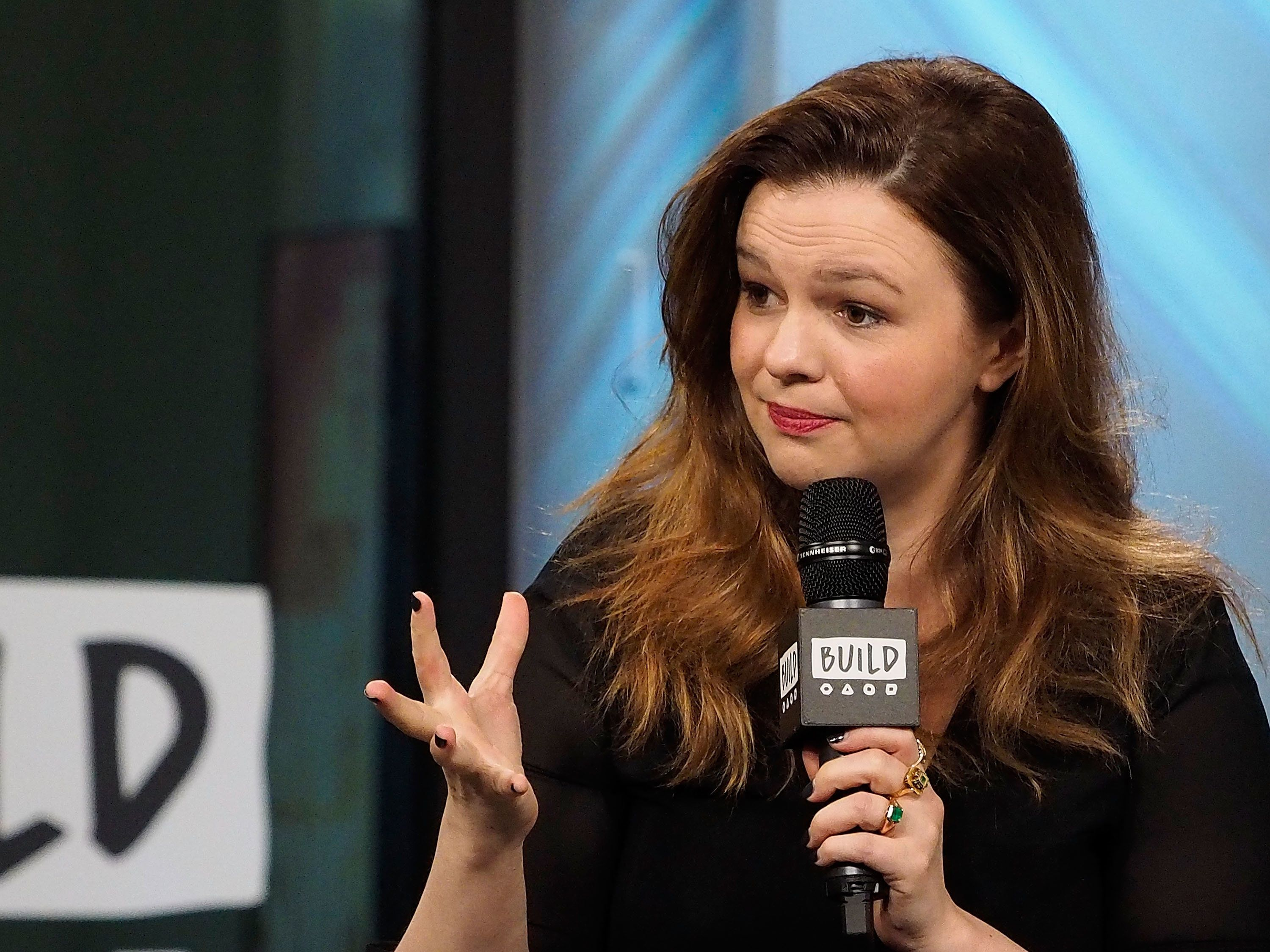NEW YORK, NY - MAY 05:  Build Presents Amber Tamblyn discussing her Off-Broadway debut in 'Can You Forgive Her?' at Build Studio on May 5, 2017 in New York City.  (Photo by Manny Carabel/FilmMagic)