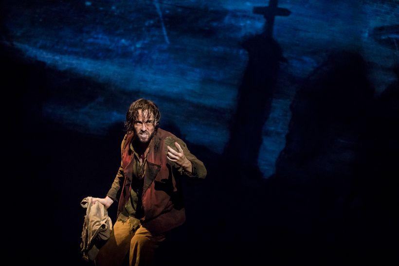 Nick Cartell as Jean Valjean in Les Miz