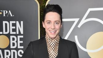 BEVERLY HILLS, CA - JANUARY 07:  Figure Skater Johnny Weir attends The 75th Annual Golden Globe Awards at The Beverly Hilton Hotel on January 7, 2018 in Beverly Hills, California.  (Photo by Alberto E. Rodriguez/Getty Images)