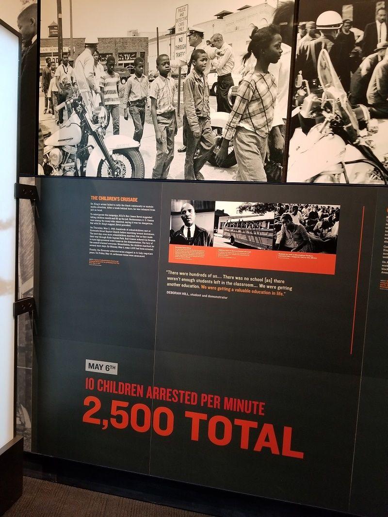 <em>1963 Birmingham Children's March</em>, National Civil Rights Museum - Memphis