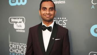 SANTA MONICA, CA - JANUARY 11:  Actor Aziz Ansari attends The 23rd Annual Critics' Choice Awards at Barker Hangar on January 11, 2018 in Santa Monica, California.  (Photo by Christopher Polk/Getty Images for The Critics' Choice Awards  )