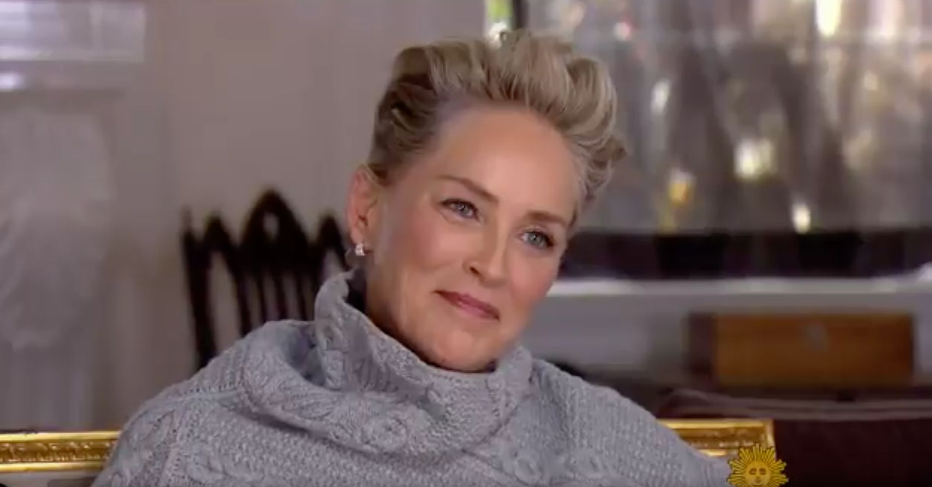 Sharon Stone laughs heartbreakingly when asked whether she's experienced sexual harassment