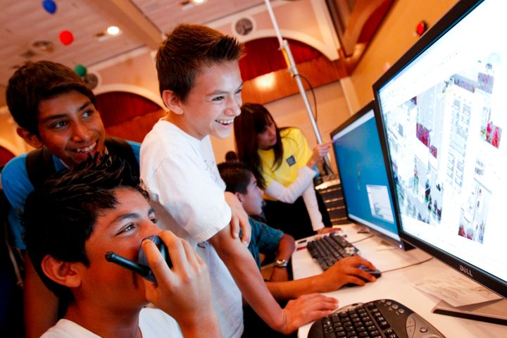 <p>Middle schoolers love computers, but I doubt they are using them to write</p>