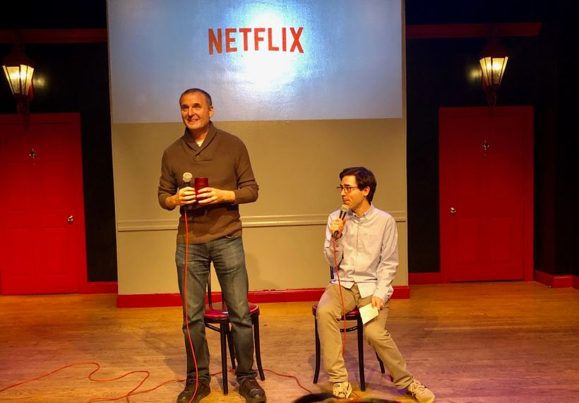 Phil Rosenthal being interviewed by Mark Malkoff at The PIT.