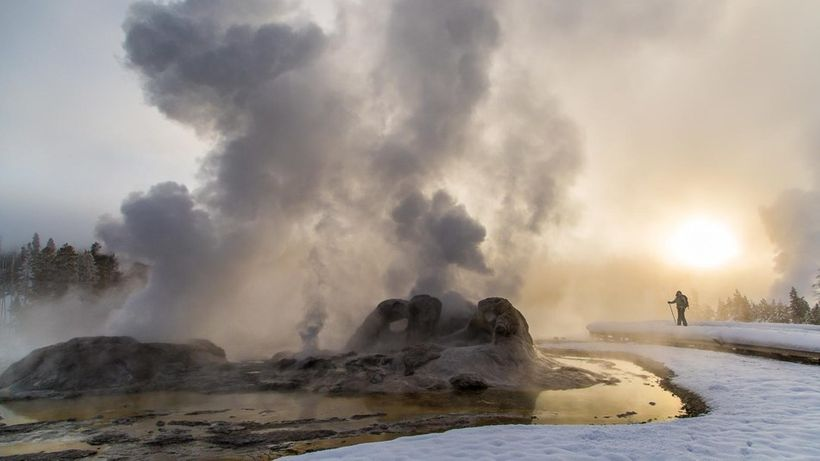 Yellowstone is among the iconic national parks that were made possible by the 1803 Louisiana Purchase. NPS photo.