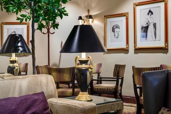 Works by Edward Munch and other acclaimed artists adorn the public spaces of the Hotel Continental, Oslo.