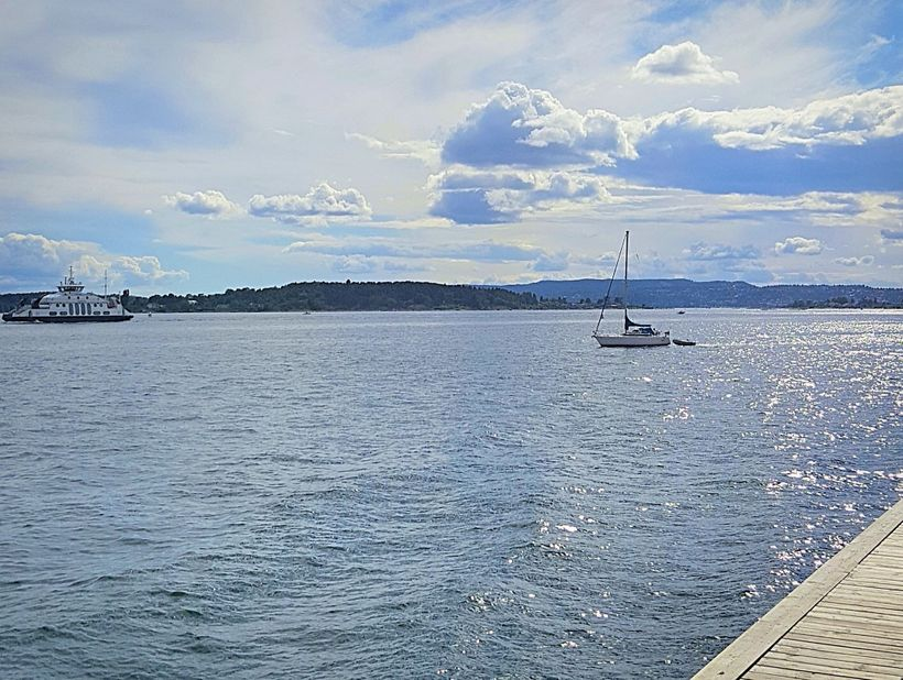 A stunning view from Oslo's Harbour Promenade.