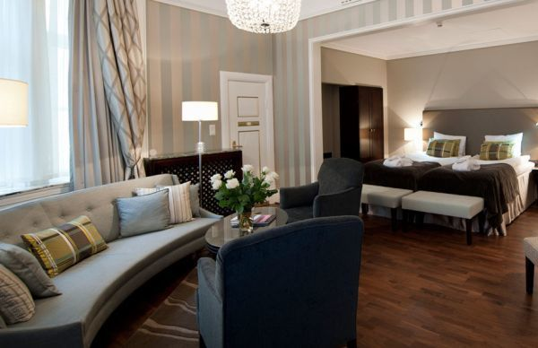 A Junior Suite at the Grand Hotel, Oslo.