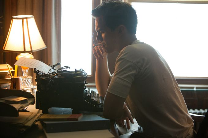 <strong>Nicholas Hoult as reclusive author J.D. Salinger</strong>