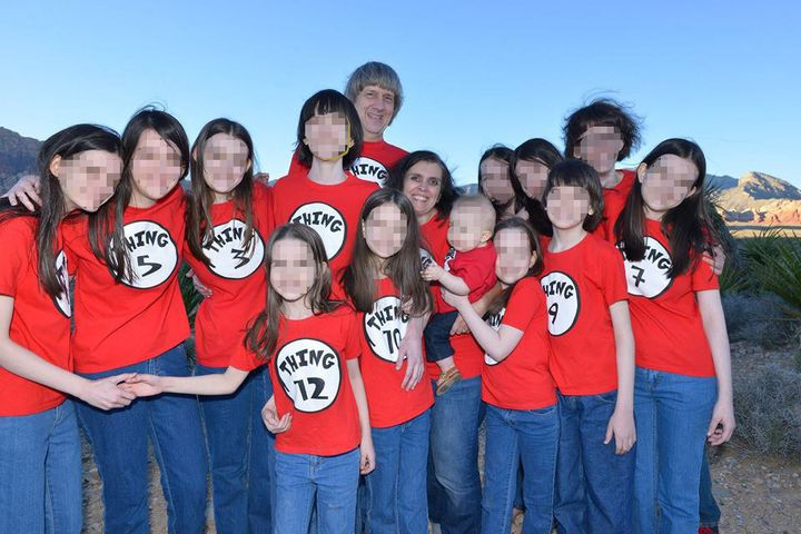 David Turpin's mother has said that during family vacations, all of the children would dress alike and had to be lined