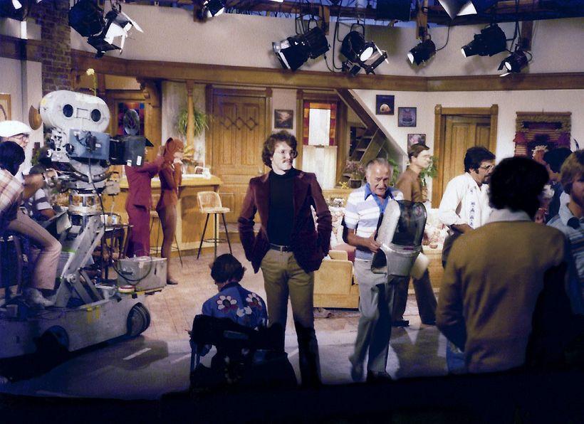 "David Misch on the ""Mork & Mindy"" set."