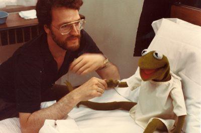 David Misch with Kermit.