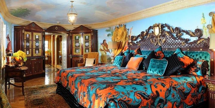 "Gianni Versace's bedroom, the Villa Suite. ""Luckily, because the hotel is so similar to how it was when Giann"