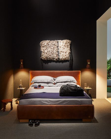 The leather hand-stitched bed from Birkenstock