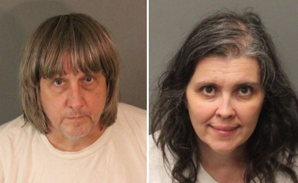 David Allen Turpin, 57, and his wife, Louise Anna, 49, were jailed in lieu of $9 million bail after police found 13 children