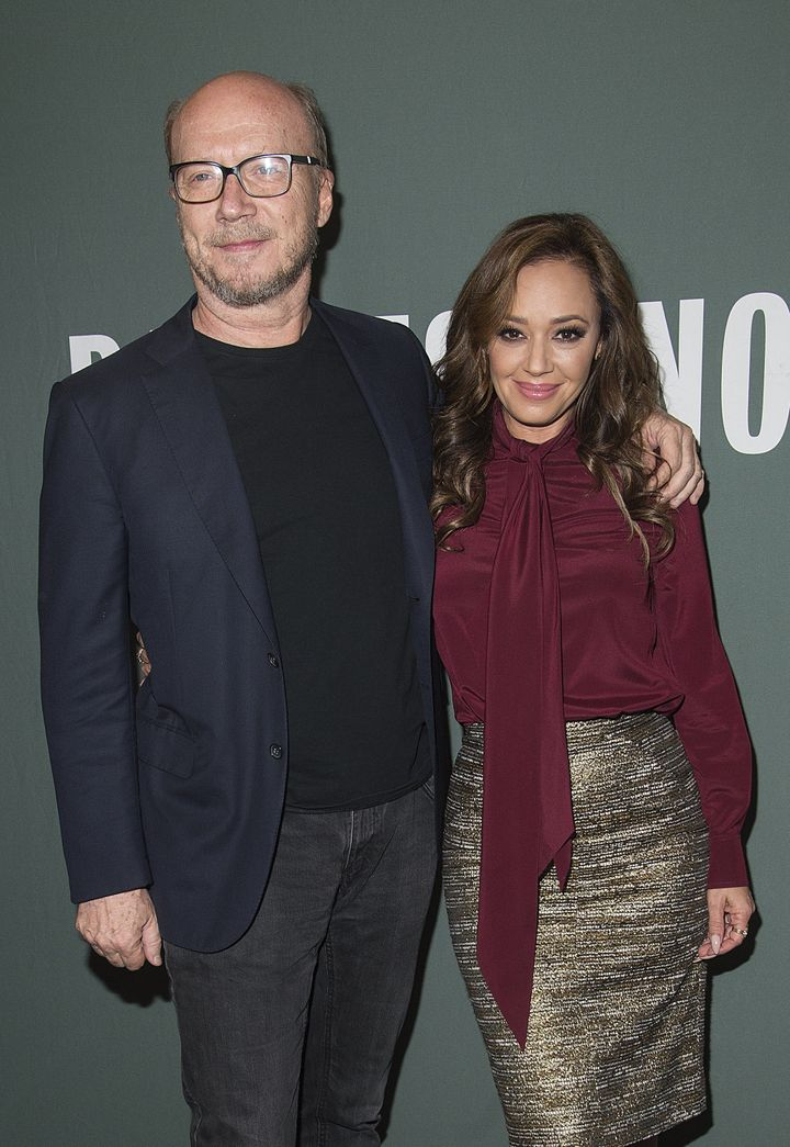 Paul Haggis and Leah Remini pictured together at her book signing in 2015.