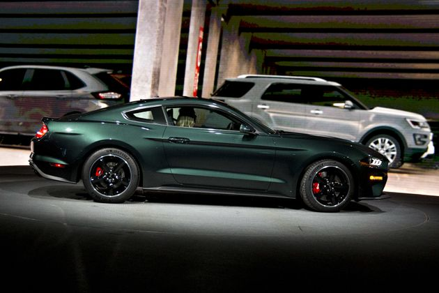 Ford unveiled the limited edition Mustang Bullitt sports car at the 2018 North American International...
