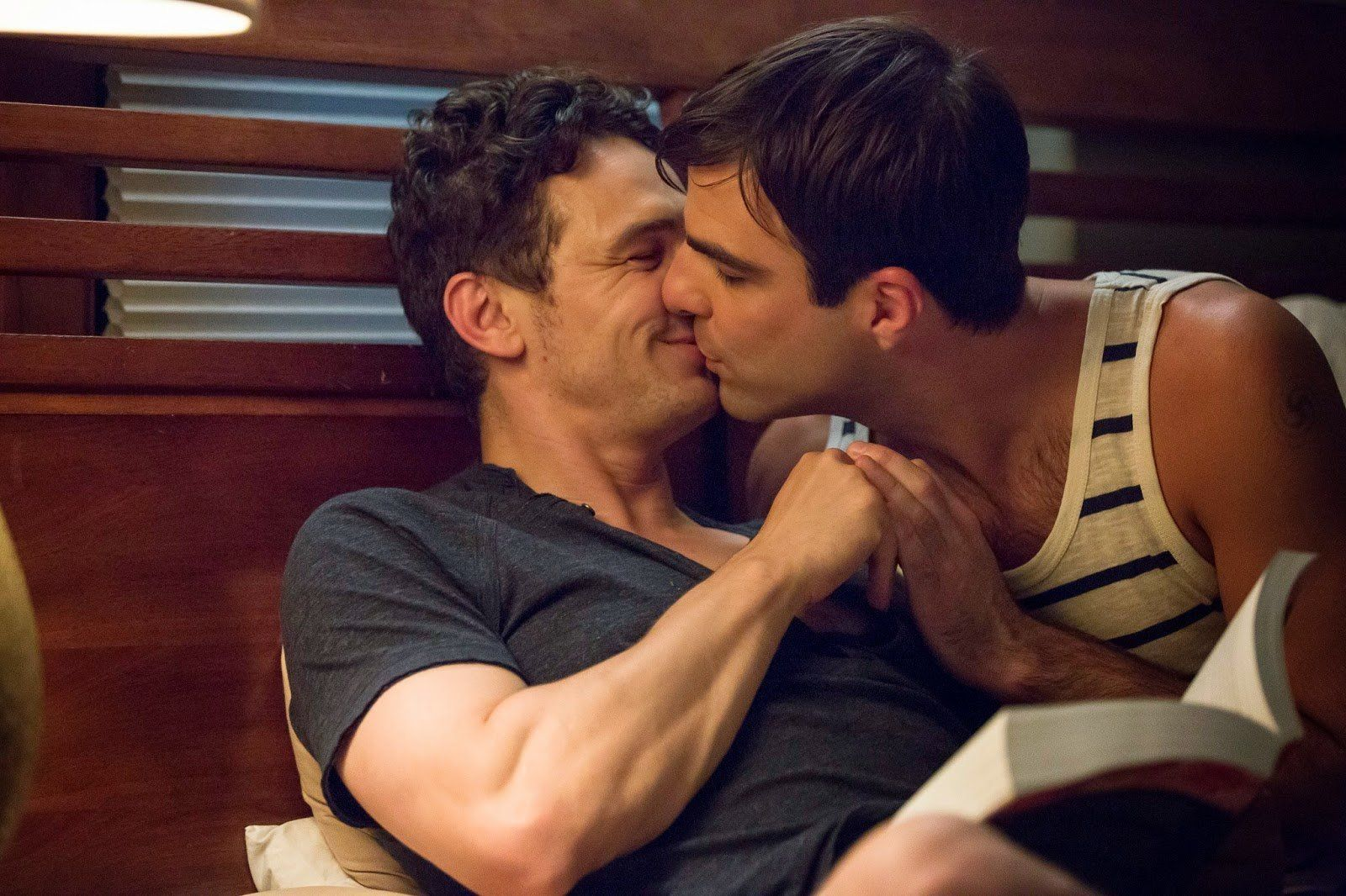 Aroused gays making out hot