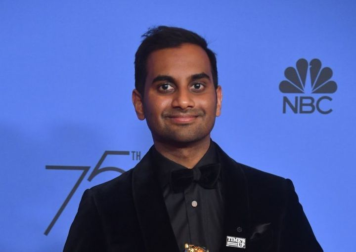 Aziz Ansari at the 75th Annual Golden Globe Awards.