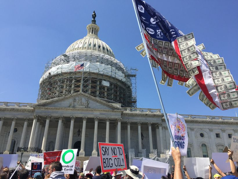 Protesters outside the US Capitol building, April 2016
