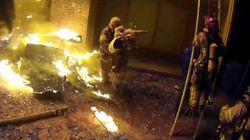Bίντεο: Πυροσβέστης πιάνει στον αέρα παιδί που πέφτει από φλεγόμενο