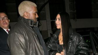 NEW YORK, NY - FEBRUARY 14:  Kanye West and wife Kim Kardashian West are seen on February 14, 2017 in New York City.  (Photo by Marc Piasecki/GC Images)