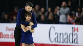 VANCOUVER, BC - JANUARY 13: Meagan Duhamel and Eric Radford of Canada compete in the free pair program during the 2018 Canadian Tire National Skating Championships game at the Doug Mitchell Thunderbird Sports Centre on January 13, 2018 in Vancouver, British Columbia, Canada. (Photo by Ben Nelms/Getty Images)