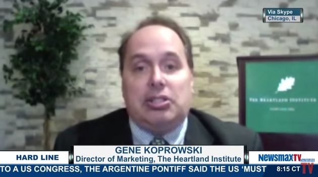 A screenshot of Eugene Koprowski's 2015 appearance on Newsmax