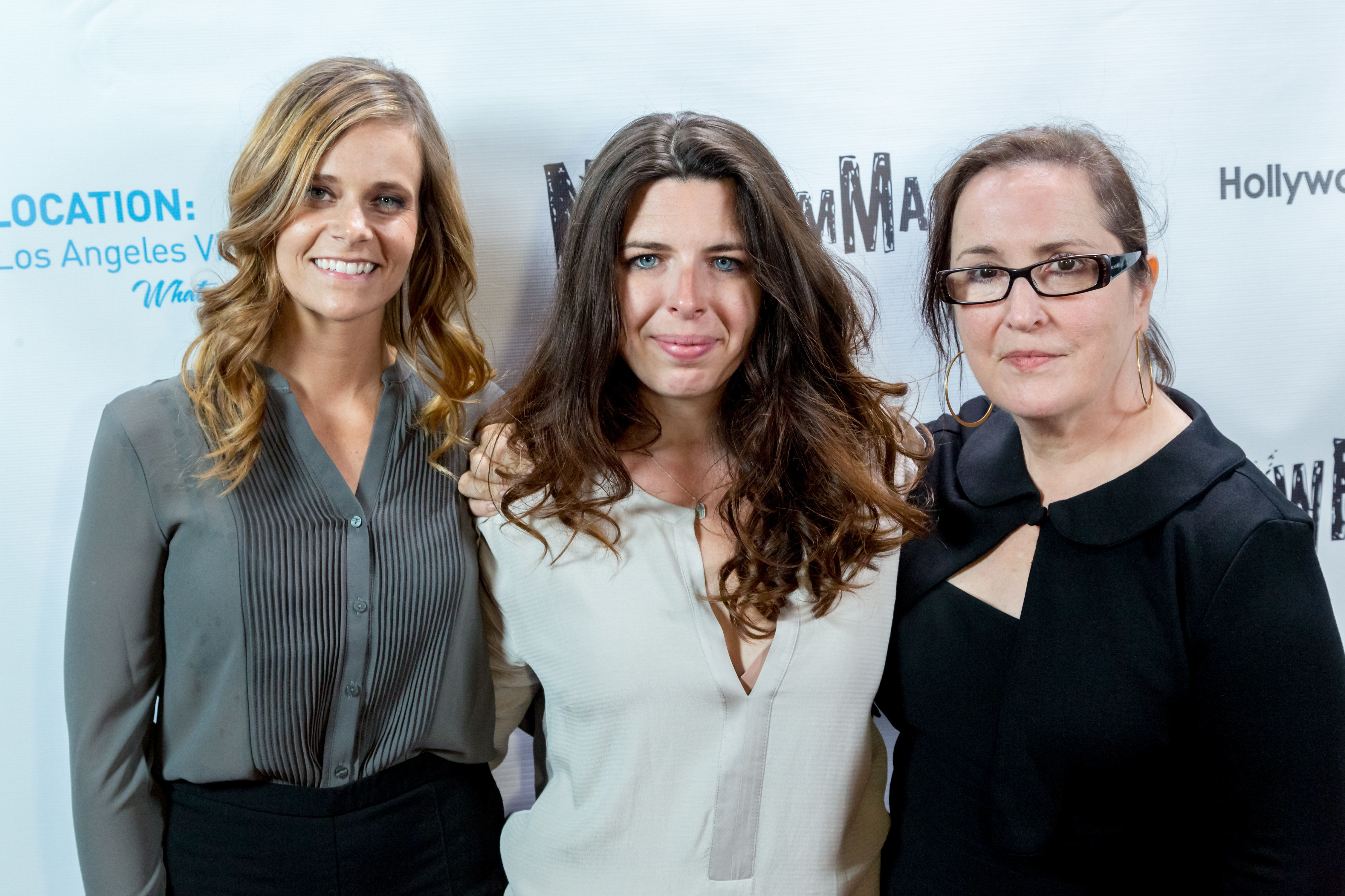 LOS ANGELES, CA - OCTOBER 08:  (L-R) Actors Heather Turman, Heather Matarazzo and Jillian Armenante arrive at the NewFilmmakers Los Angeles On Location 2016 Film Festival at Hollywood Center Studios on October 8, 2016 in Los Angeles, California.  (Photo by Greg Doherty/Getty Images)