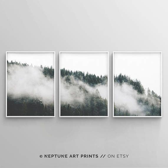 "Get the set of three <a href=""https://www.etsy.com/listing/539582746/minimalist-forest-print-tree-wall-art?ga_order=most_rele"