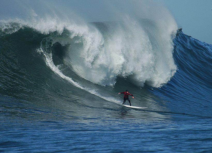 Matt Ambrose surfing Maverick's.
