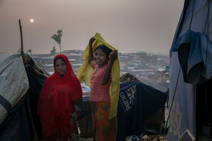 COX'S BAZAR, BANGLADESH - JANUARY 14: Rohingya refugees are seen in Balukhali camp on January 14, 2018 in Cox's Bazar (